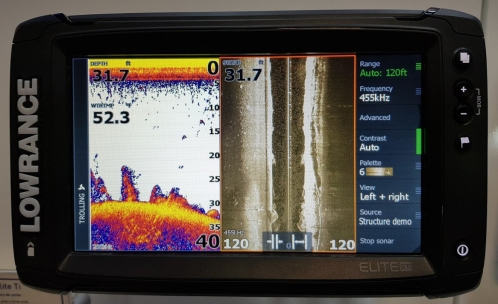 lowrance elite ti 9 total scan